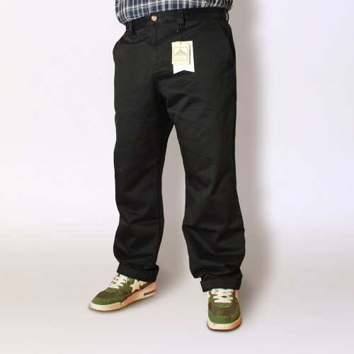 Easy Straight Chino - Shiny Black