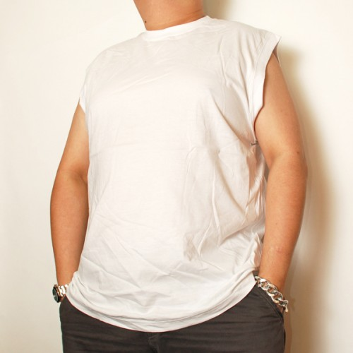 Cotton Sleeveless Shirt - White