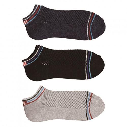 COOL FLEX Ankle Socks – Black/Navy/Grey
