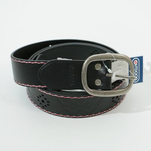 Tribal Pattern Embossed Belt - Black