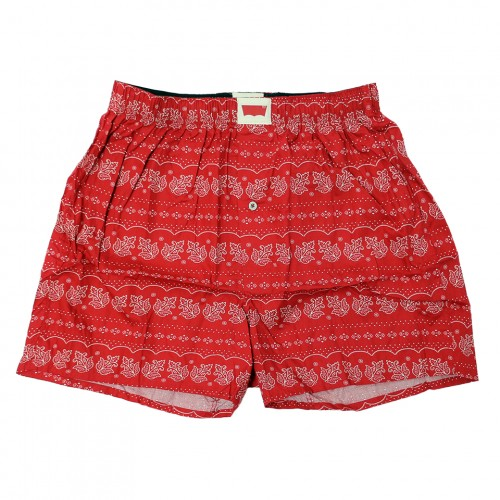 Bandana Pattern Boxers - Red/Navy