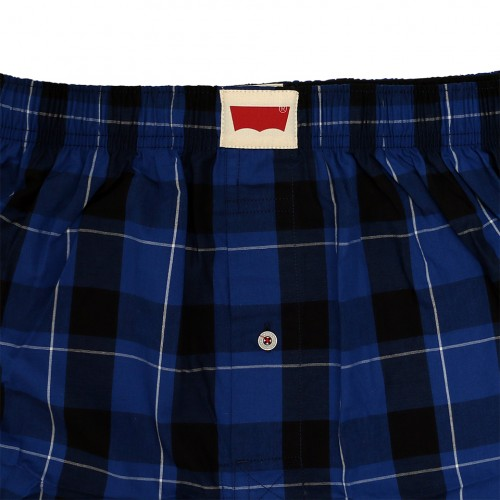 Check Pattern Boxer Set - Navy/Grey