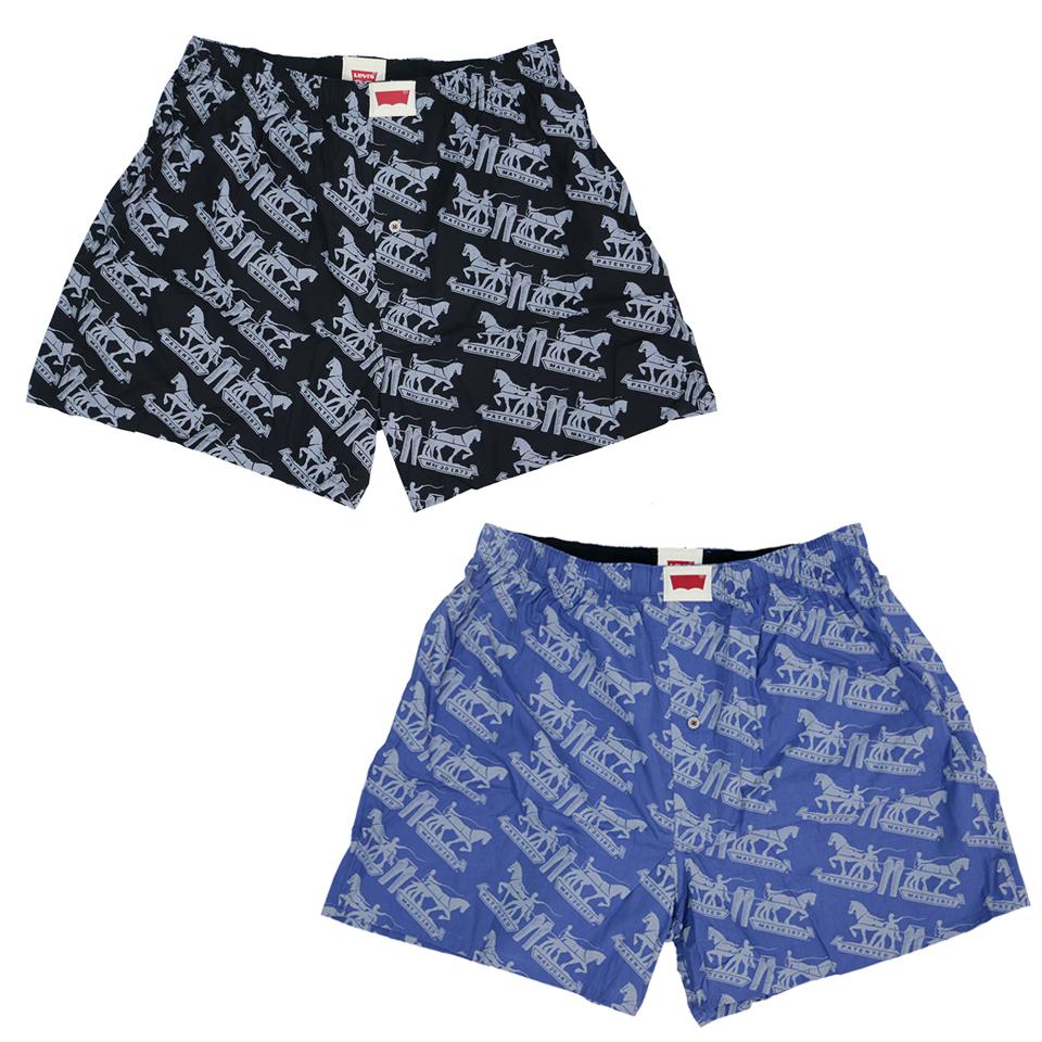 Horse Pattern Boxer Set - Blue/Black