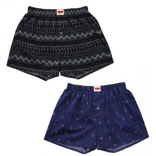 Ortega & Cactus Pattern Boxer Set - Black/Navy