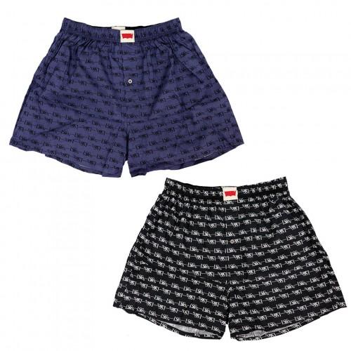 LS & CO Pattern Boxer Set - Black/Navy