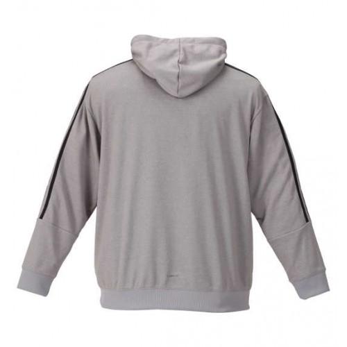 Rubber Print Logo Climalite Hoodie - Grey