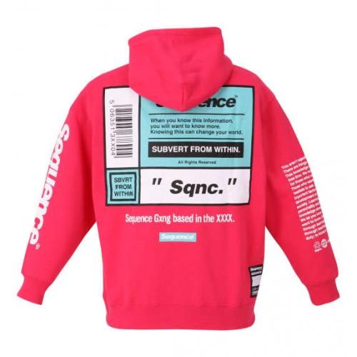 Sequence Expression Logo Hoodie - Shocking Pink