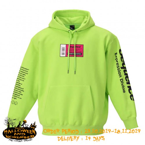 Sequence Expression Logo Hoodie - Lime Green