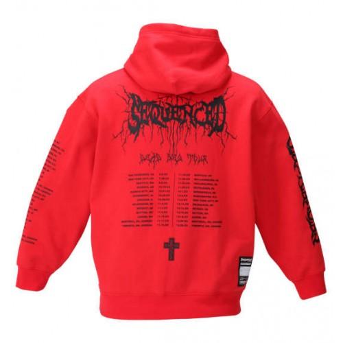 Black Metal Logo Pullover Hoodie - Red