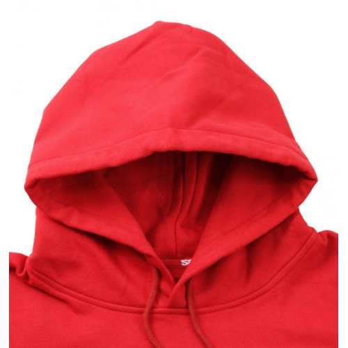 Simple Logo Pullover Hoodie - Red