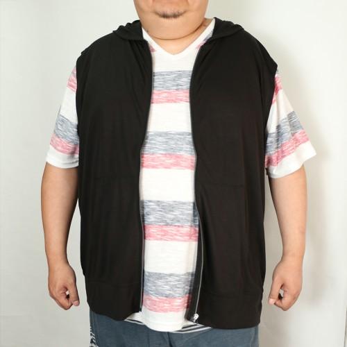 Summer Lightweight Zip Vest - Black