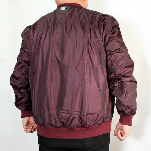 Nylon Jersey Lined Jacket - Wine