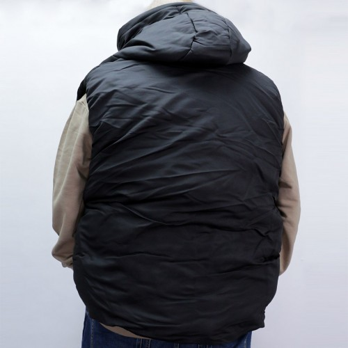 High Airtightness Cotton Vest - Black