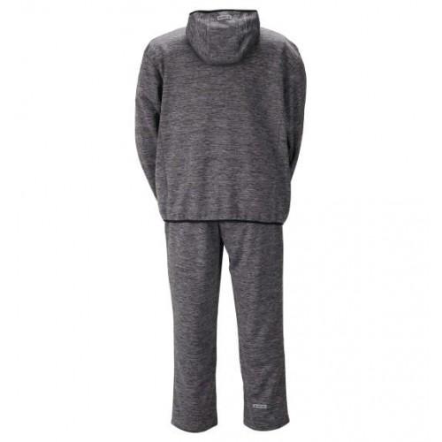 Tengu Bonding Dot Pattern Fleece Set - Charcoal