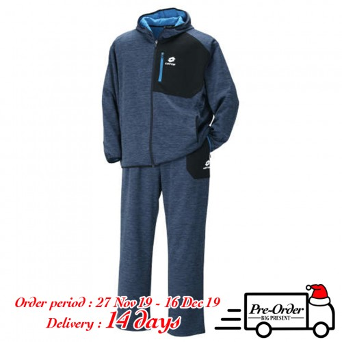 Tengu Bonding Dot Pattern Fleece Set - Navy