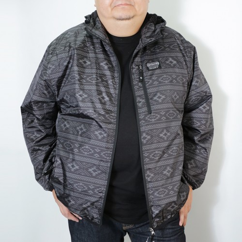 Taffeta Back Boa Fleece Jacket - Black