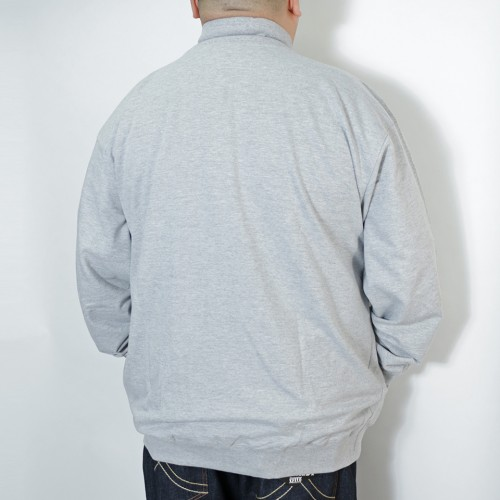 French Terry Track Jacket - Heather Grey