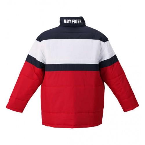 Switch Panel Batting Jacket - Red/White