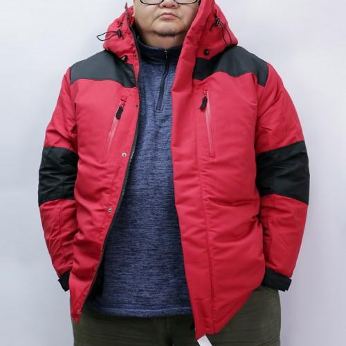 Mountain Batting Jacket - Red