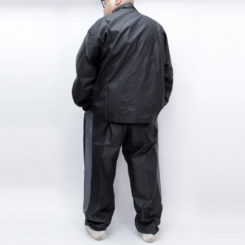 Total Back Mesh Windbreaker Set - Black/Grey