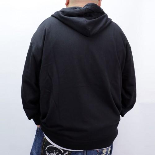 Simple Full Zip Hoodie - Black