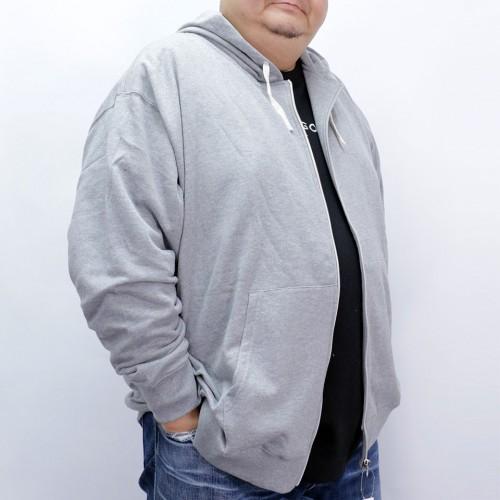 Simple Full Zip Hoodie - Grey