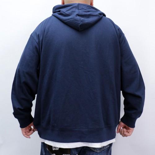 Simple Full Zip Hoodie - Navy
