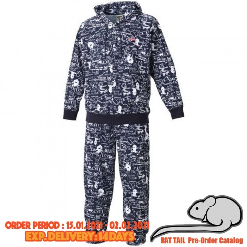 Lucpy Skateboard All Print Hoodie Set - Navy
