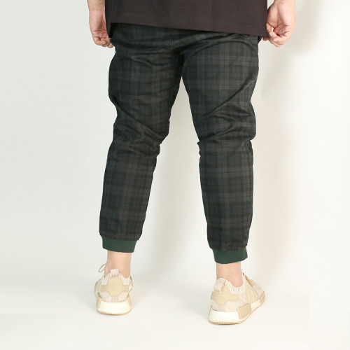 Dandy Style Stretch Twill Joggers - Navy Green