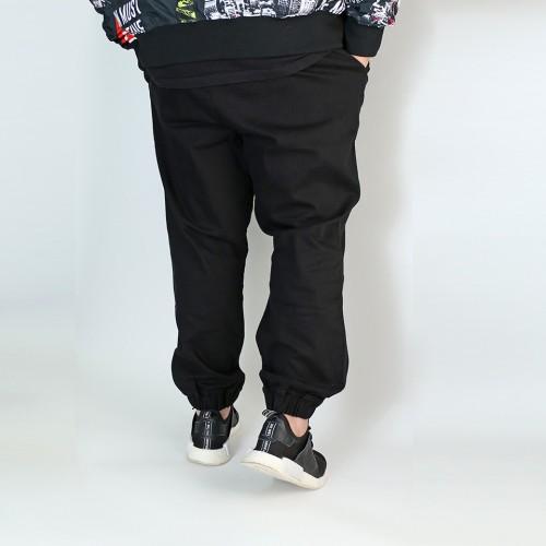 Stretch Twill Joggers - Black