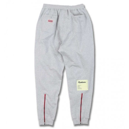Kraft Paper Logo Tag Sweat Pants - Grey
