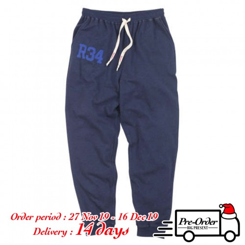 Kraft Paper Logo Tag Sweat Pants - Navy