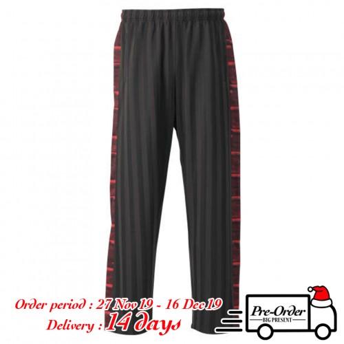 Slash Shadow Line Pants - Black/Red