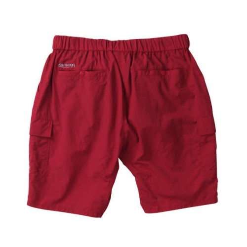 Nylon Climbing Cargo Half Pants - Red