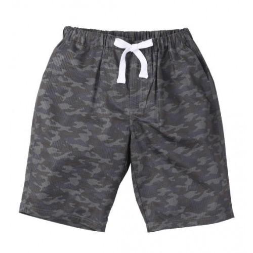 Ripple Camouflage Pattern Half Pants - Grey