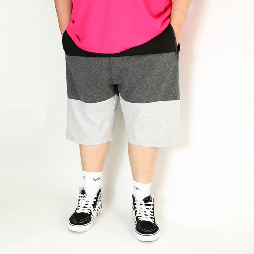 3 Colour Tech Fleece Shorts - Black