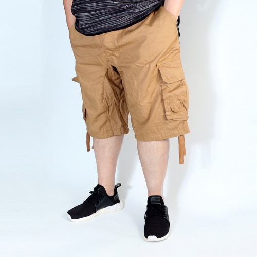 Simple Cargo Shorts - Khaki