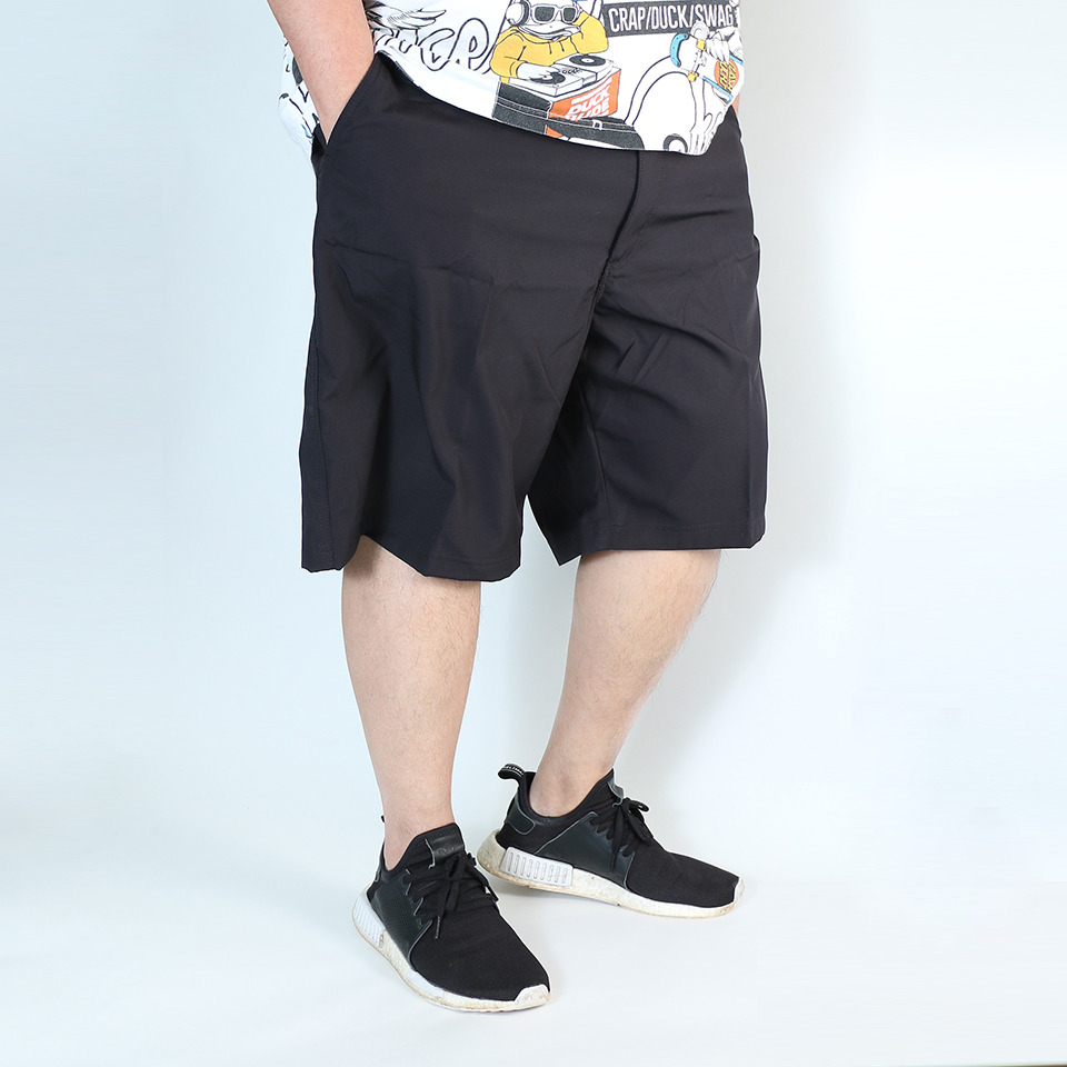 Elastic Utility Shorts - Black