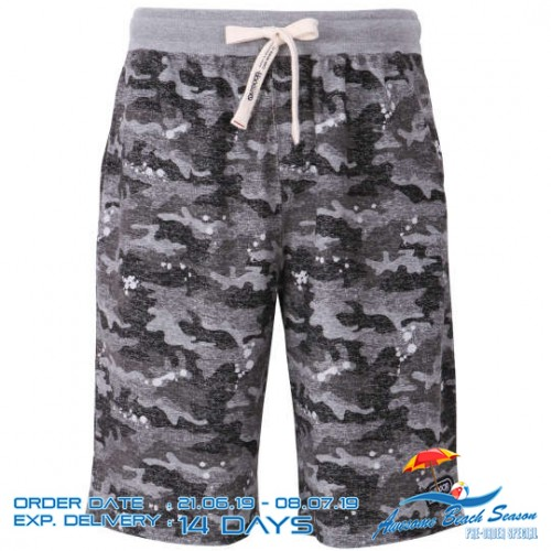 Texture Camouflage Pattern Shorts - Black
