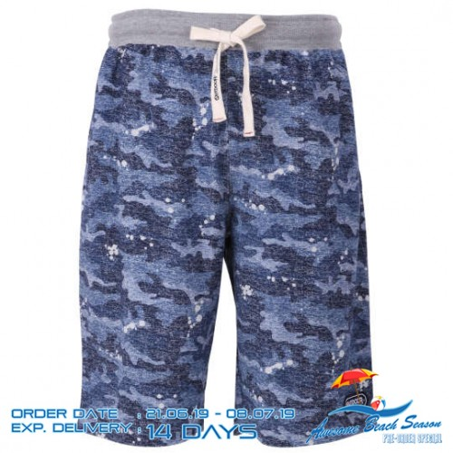 Texture Camouflage Pattern Shorts - Navy