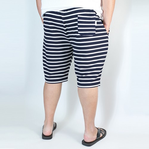 Stripe Casual Trunks - Navy/White