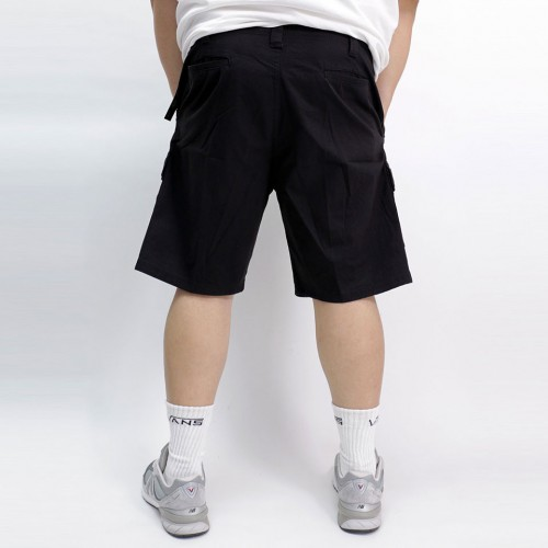 Stretch Classic Relaxed Cargo Short - Black