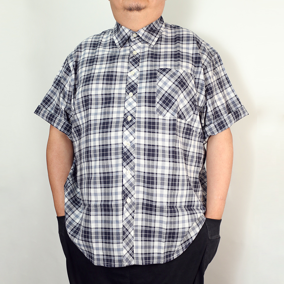 Hipster Check Shirt - Navy