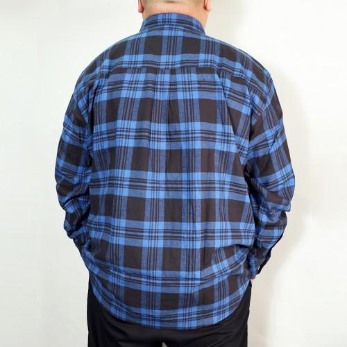 Basic Casual Check Shirt - Blue/Black