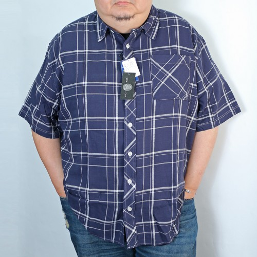 Panama Check Shirt - Navy