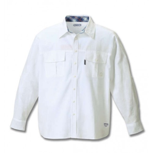 Roll Uplong Sleeved Cotton Shirt - White