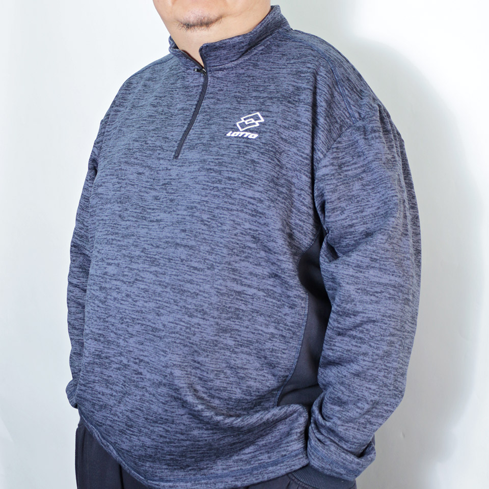 Half Zip Micro Fleece Sweatshirt - Navy