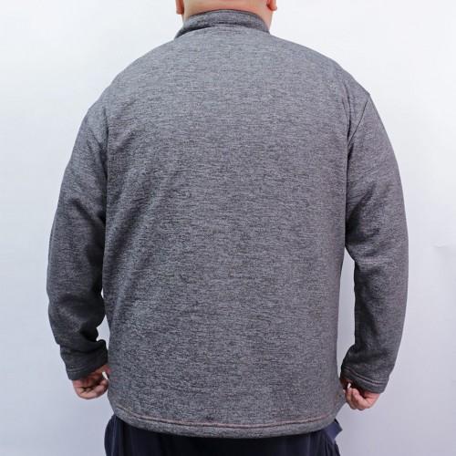 Heather Microfleece Sweatshirt - Charcoal