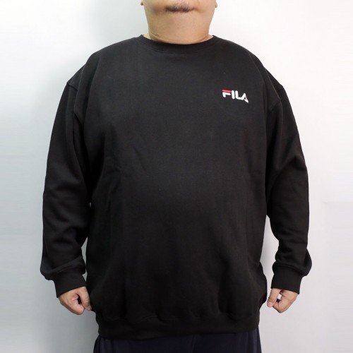Fleece Crew Neck Sweater - Black