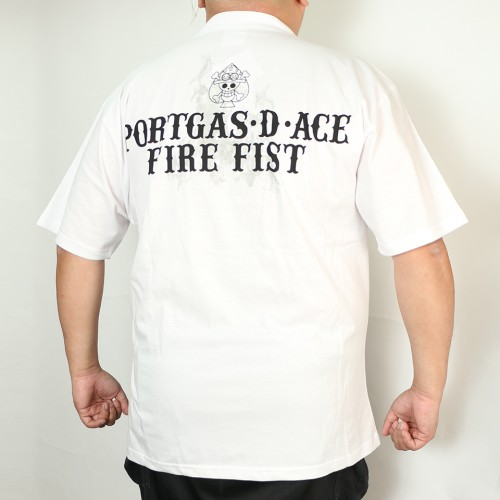 Portgas.D.Ace Fire Fist Tee - White
